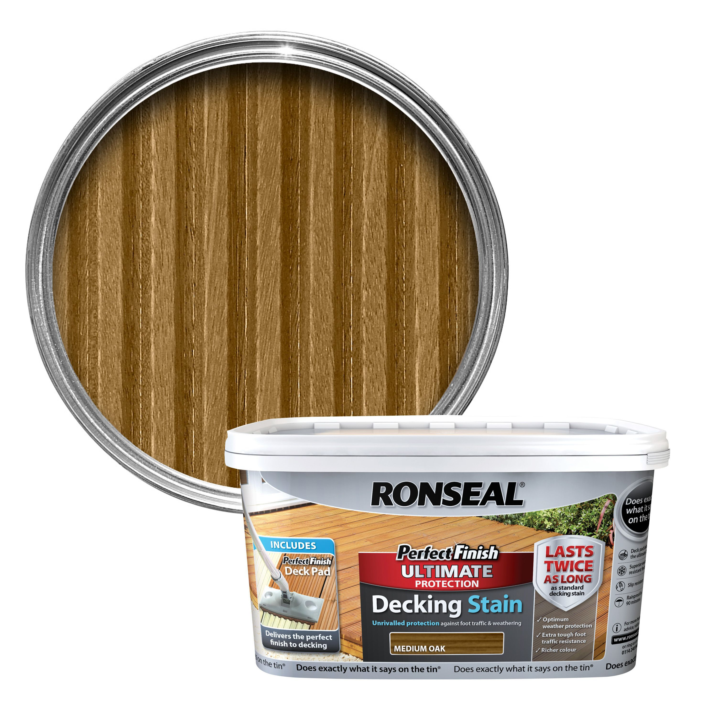 Ronseal Perfect Finish Medium Oak Decking Stain 2 5l