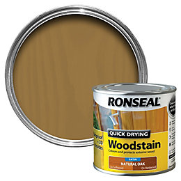 Ronseal Natural Oak Satin Wood Stain 250ml