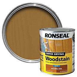 Ronseal Natural Oak Satin Wood Stain 750ml