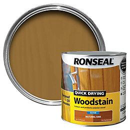 Ronseal Natural Oak Satin Wood Stain 2.5L