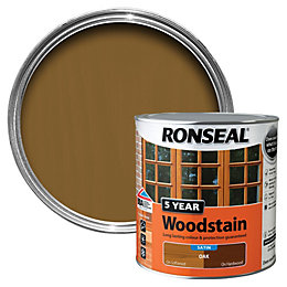 Ronseal Oak High Satin Sheen Woodstain 2.5L