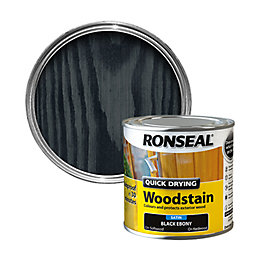 Ronseal Exterior Woodstain Ebony Woodstain 250ml