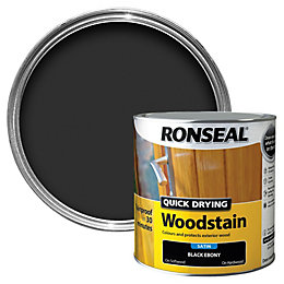Ronseal Ebony Satin Woodstain 2.5L