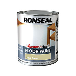 Ronseal Diamond Hard Floor Paint Olive Green Satin