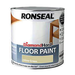 Ronseal Diamond Olive Green Satin Floor Paint 2.5L