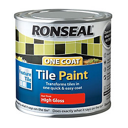 Ronseal Tile Paints Rose High Gloss Tile Paint0.25L