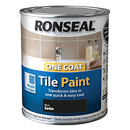 Ronseal Tile Paints Black High Gloss Tile Paint0.75L