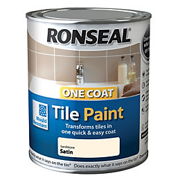 Ronseal Tile Paints Sandstone Satin Tile Paint0.75L