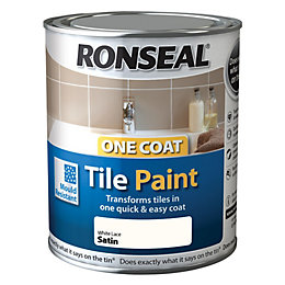 Ronseal Tile Paints White Satin Tile Paint0.75L