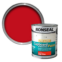 Ronseal Cupboard & Furniture Paint Red Rose Gloss
