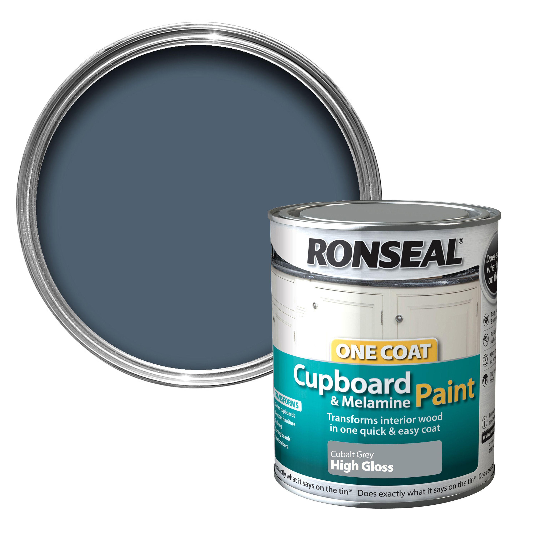 Ronseal Cobalt Grey Gloss Cupboard Paint 750 ml ...