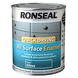 Ronseal Quick Drying Clear Gloss Enamel Paint 750