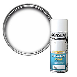 Ronseal Quick Drying White Gloss Spray Paint 400