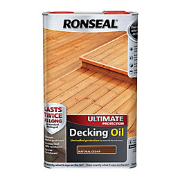 Ronseal Ultimate Protection Natural Cedar Decking Oil 5L