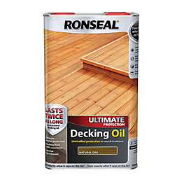 Ronseal Ultimate Protection Natural Oak Decking Oil 5L