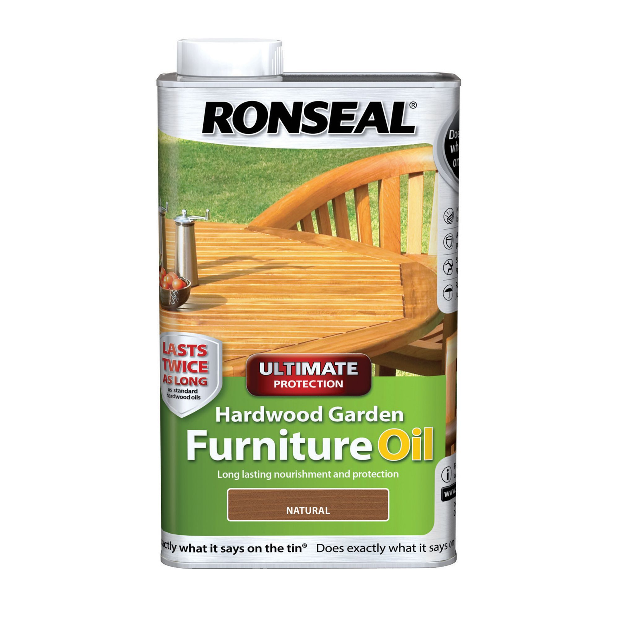Kitchen Table And Chairs Homebase: Ronseal Ultimate Natural Hardwood Garden Furniture Oil 1L