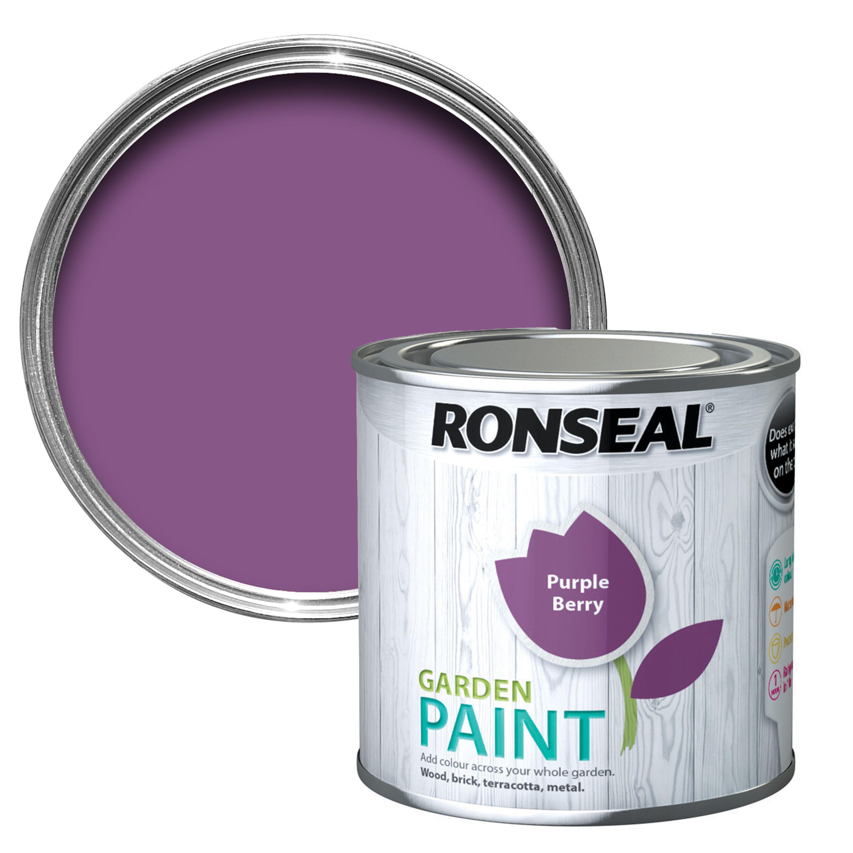 ronseal garden purple berry matt garden paint departments diy at b q. Black Bedroom Furniture Sets. Home Design Ideas