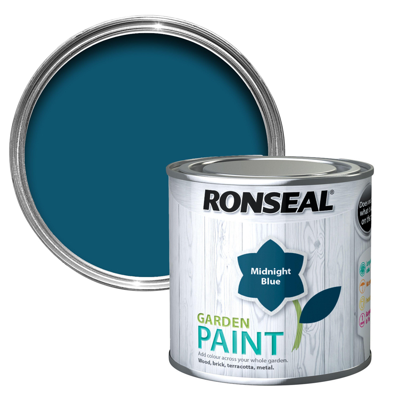Ronseal Garden Midnight Blue Matt Garden Paint 250ml | Departments | DIY at  B&Q