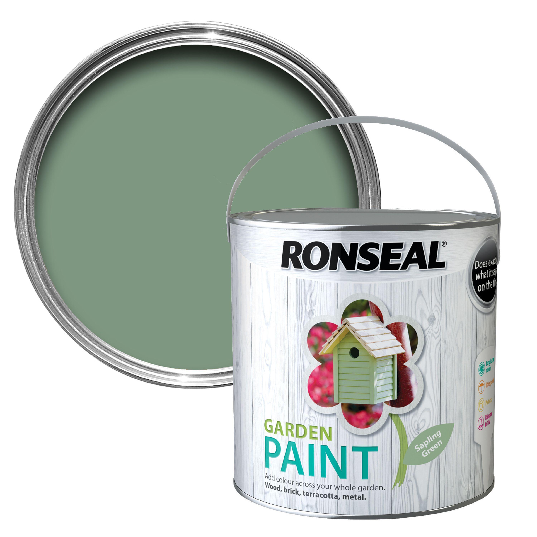 Ronseal chalky furniture paint ronseal - Ronseal Garden Sapling Green Matt Garden Paint 2 5l Departments Diy At B Q
