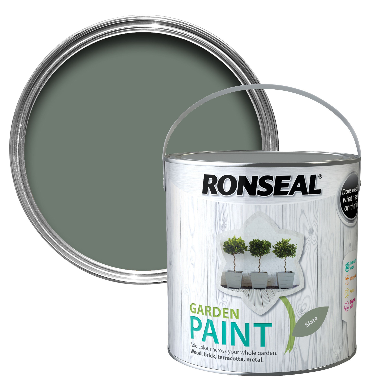 Bathroom wall towel cabinets - Ronseal Garden Slate Matt Garden Paint 2 5l Departments Diy At B Amp Q