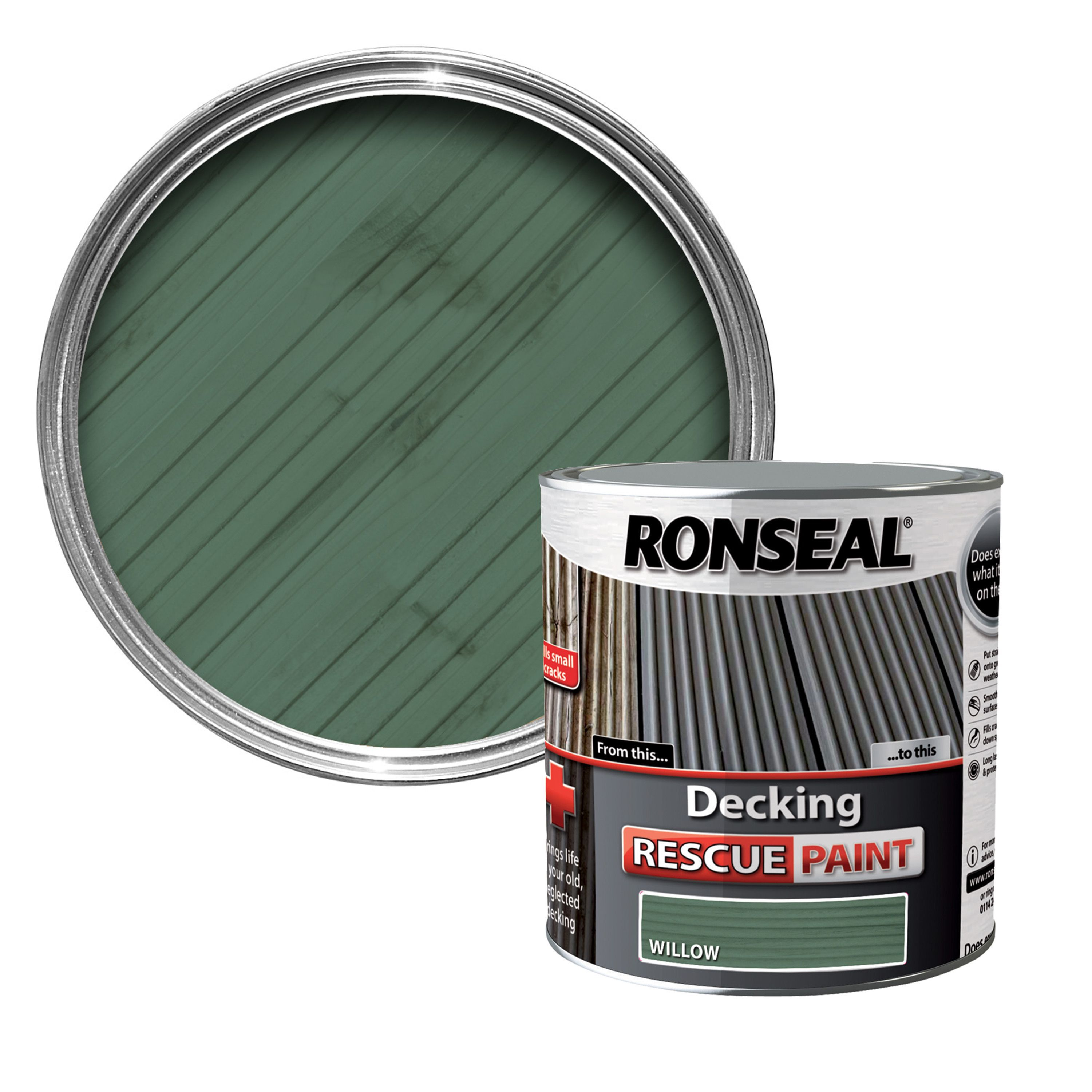B Q Ronseal Decking Rescue Paint
