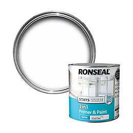 Ronseal Stays White Trim Paint Internal White Satin