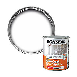 Ronseal Interior White Gloss One Coat Non Drip