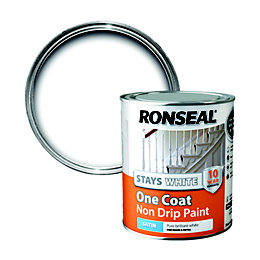 Ronseal Interior White Satin One Coat Non Drip