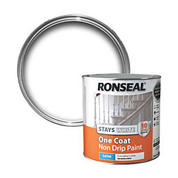 Ronseal Internal White Satin One Coat Non Drip