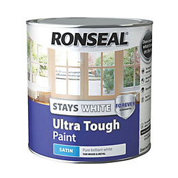 Ronseal Pure Brilliant White Satin Paint 2.5L