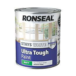 Ronseal Pure Brilliant White Matt Paint 750ml