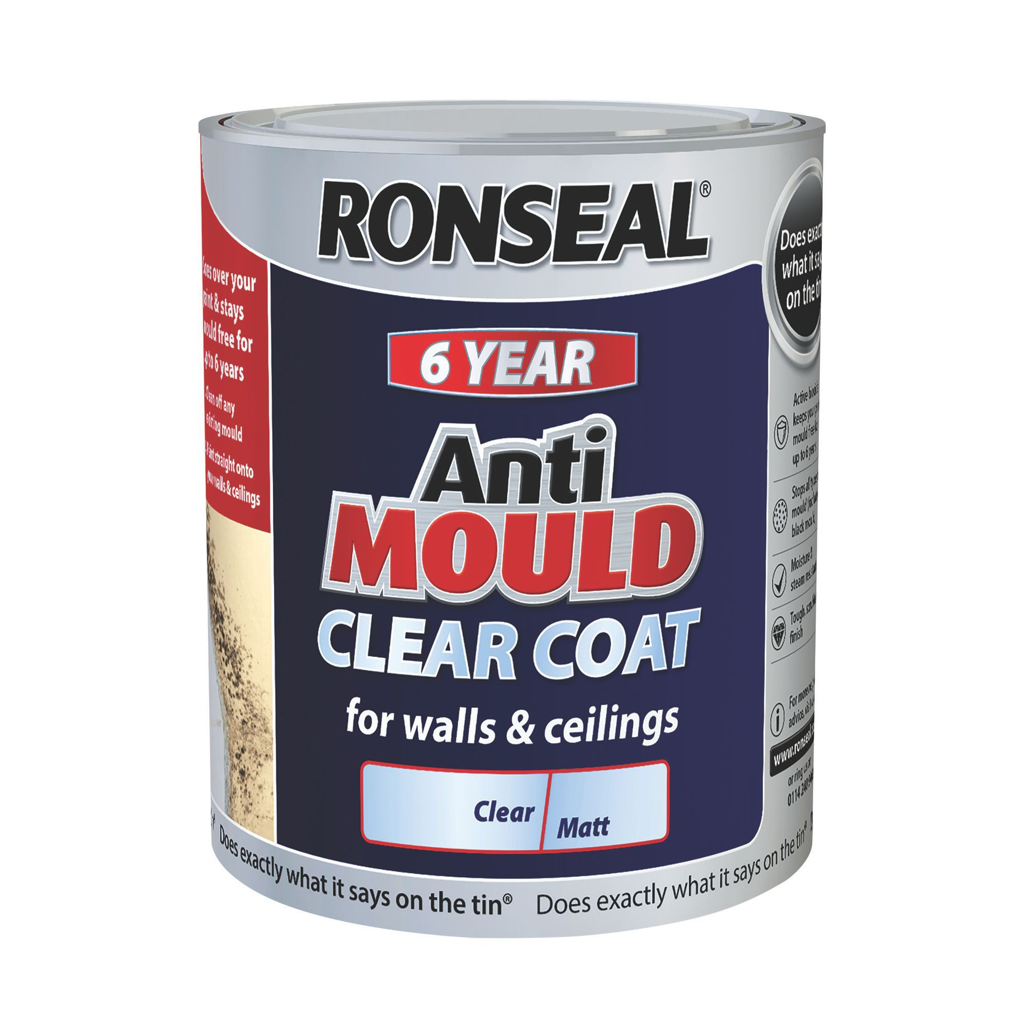 Ronseal Matt Anti Mould Paint 750 Ml Departments Diy At B Q