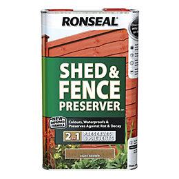 Ronseal Light Brown Matt Shed & Fence Preserver
