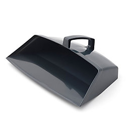 Grey Hooded Dustpan (W)200mm
