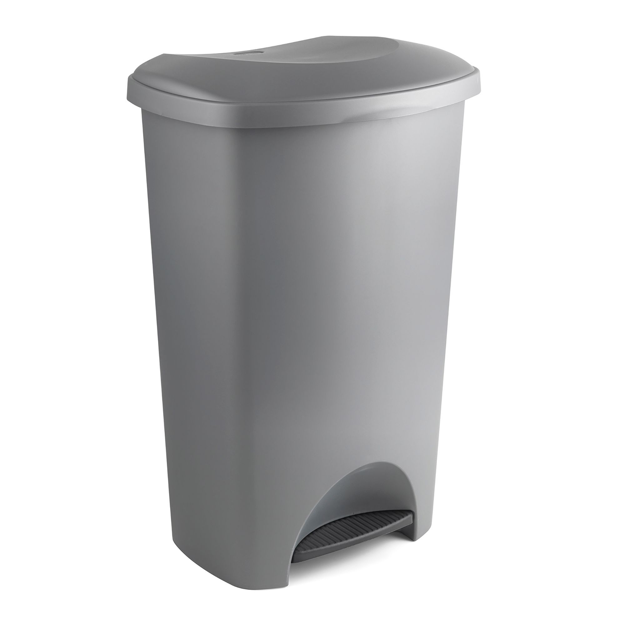 Addis Slim Matt Grey Plastic Rectangular Pedal Bin, 50l
