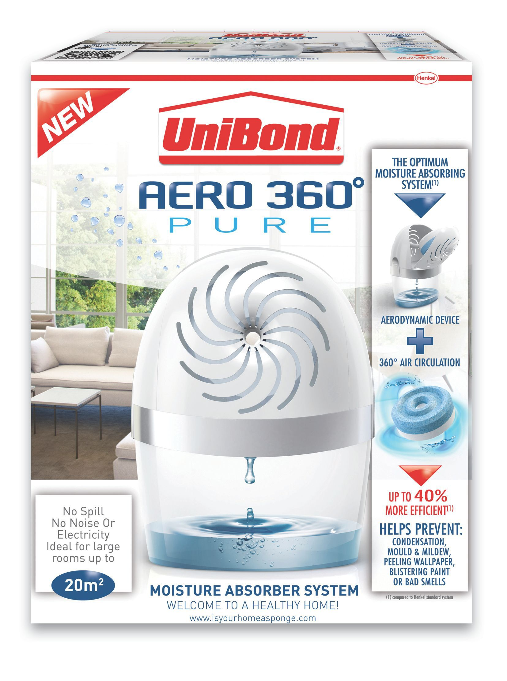Unibond Aero 360 Moisture Absorber Departments Diy At B Amp Q