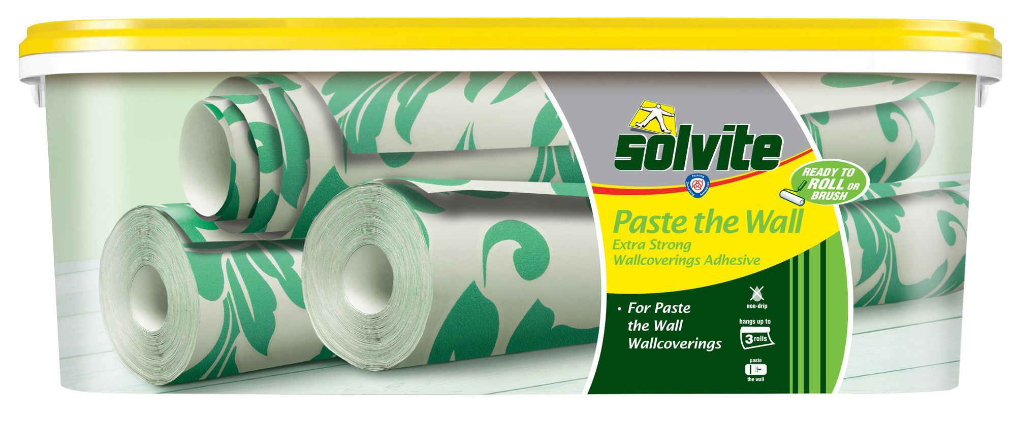 solvite paste the wall ready to roll wallpaper adhesive 2