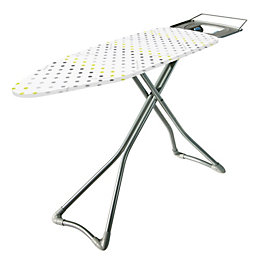 Minky White & Yellow Ironing Board