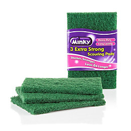 Minky Heavy Duty Flat Scourer, Pack of 3