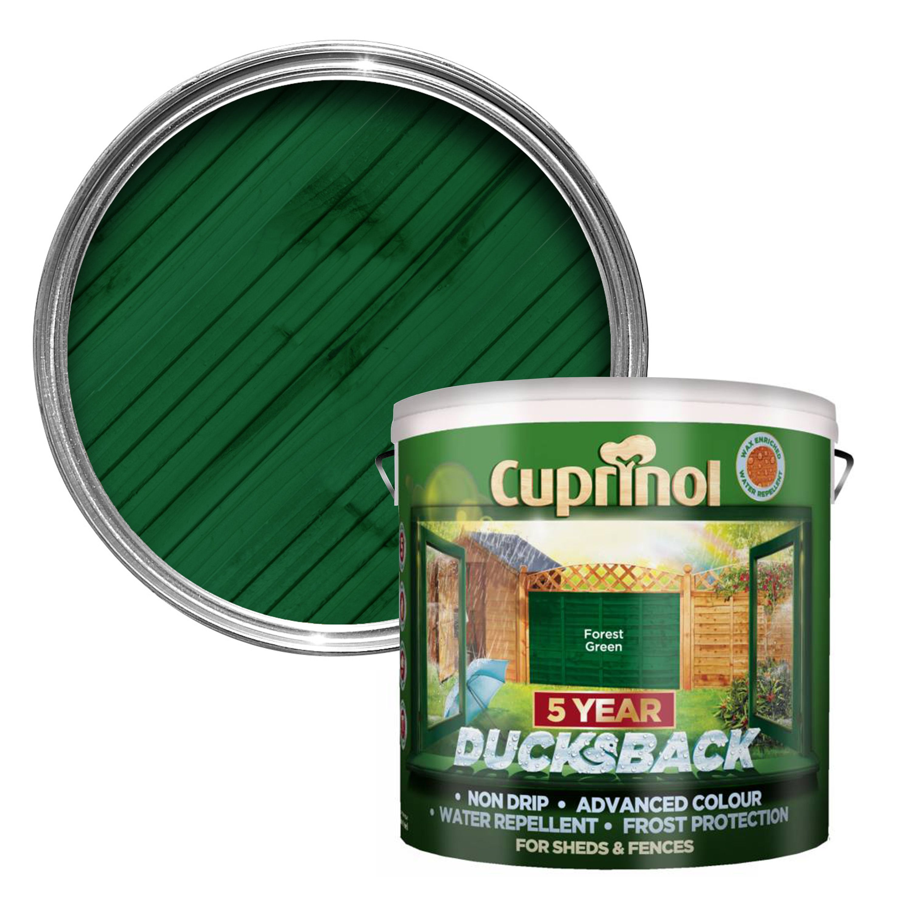Cuprinol 5 Year Ducksback Forest Green Shed Amp Fence