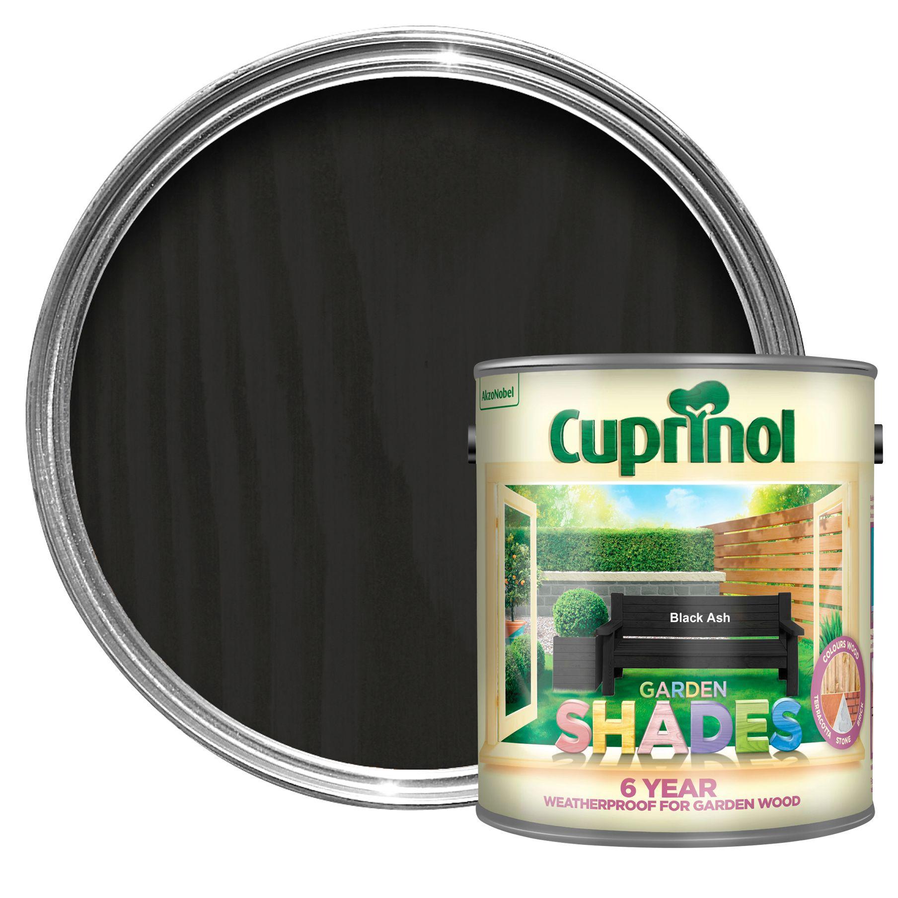 Cuprinol Garden Shades Black Ash Matt Wood Paint 2 5l Departments Diy At B Q