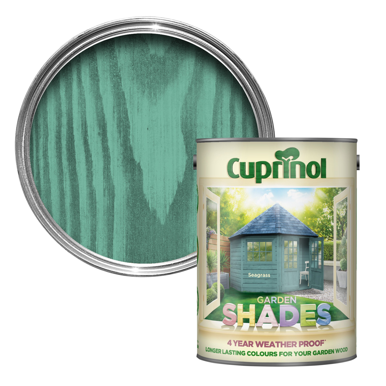 Cuprinol Garden Shades Seagrass Matt Wood Paint 5l Departments Diy At B Q