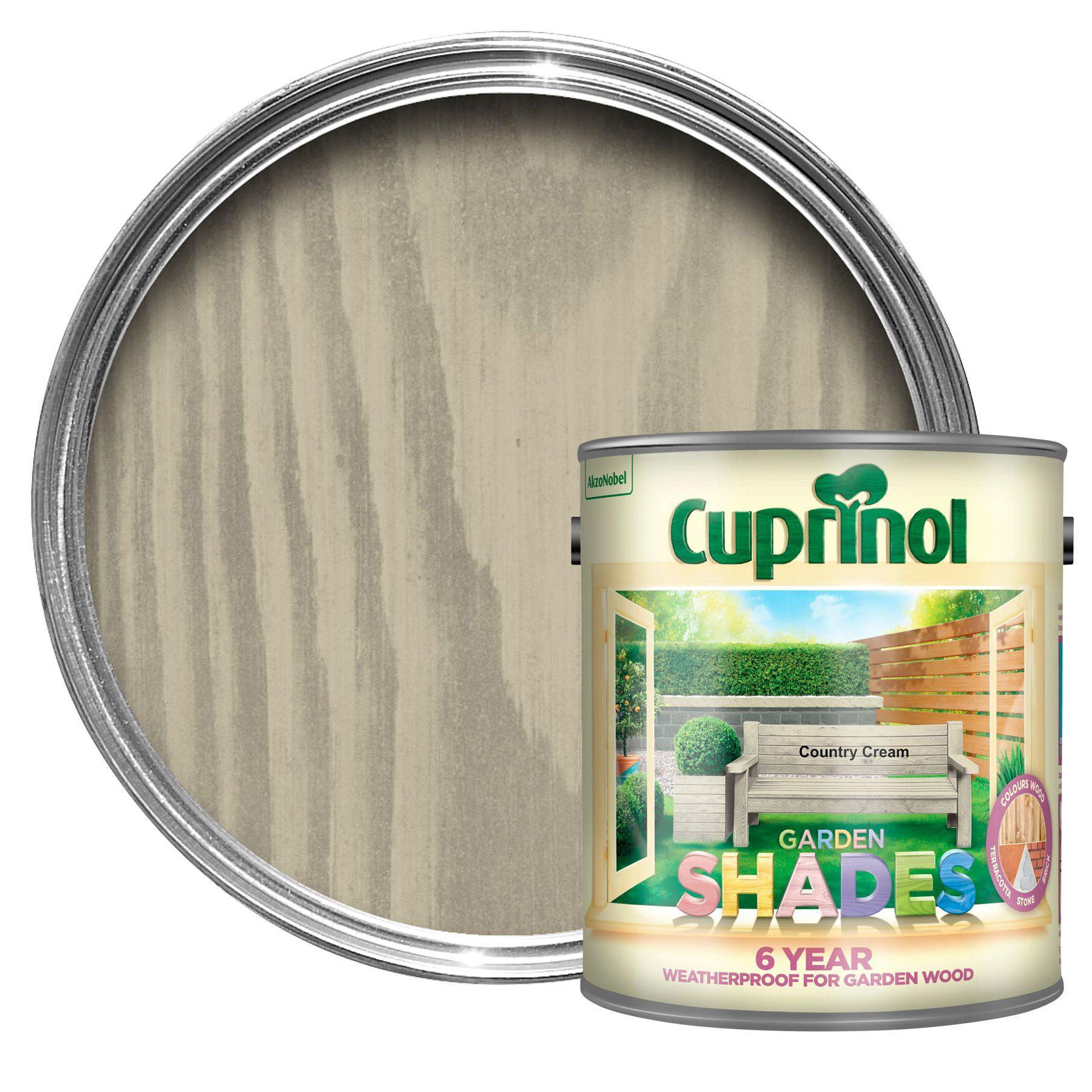 Cuprinol Garden Shades Country Cream Matt Wood Paint 2 5l Departments Diy At B Q