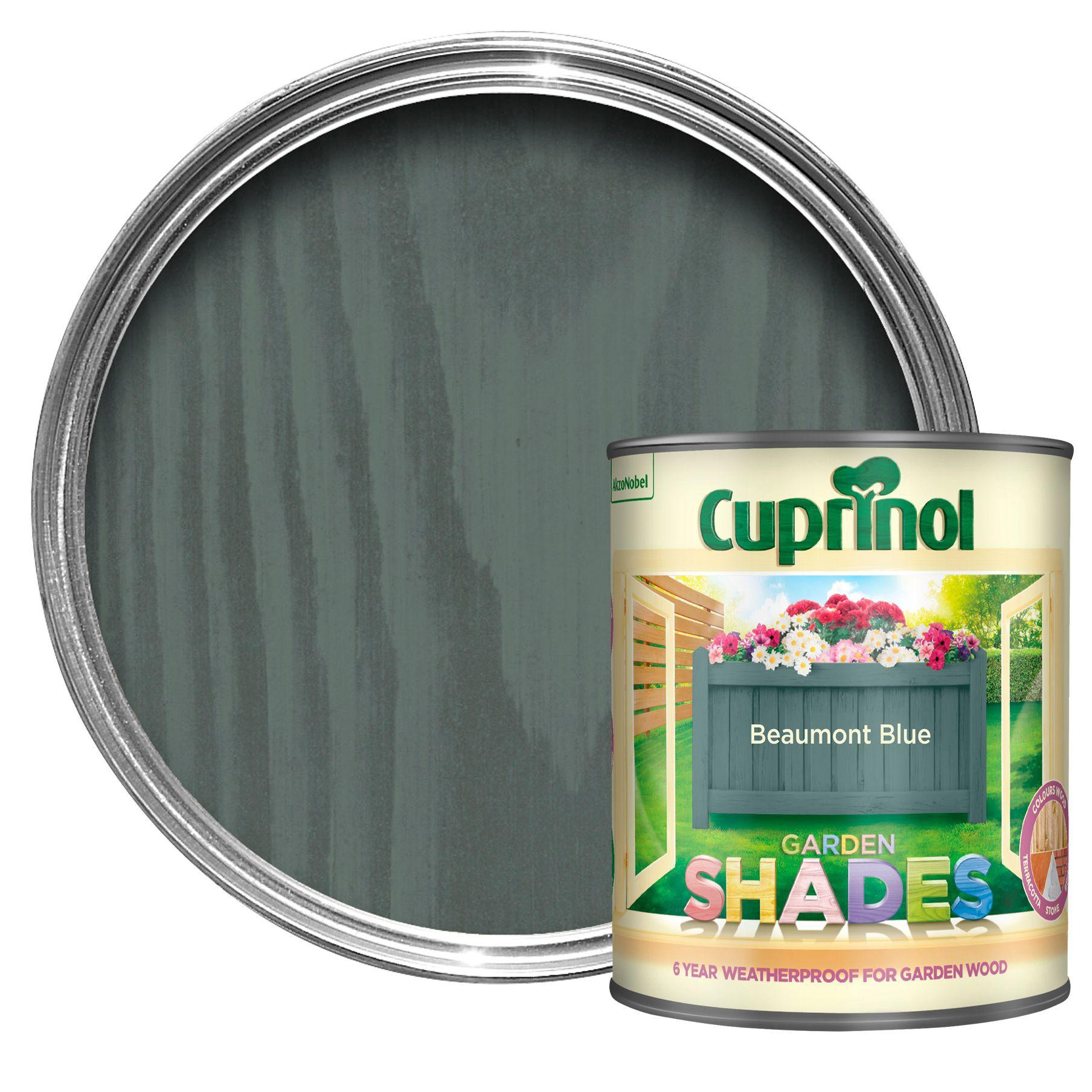 Cuprinol Garden Shades Beaumont Blue Matt Wood Paint 1l Departments Diy At B Q