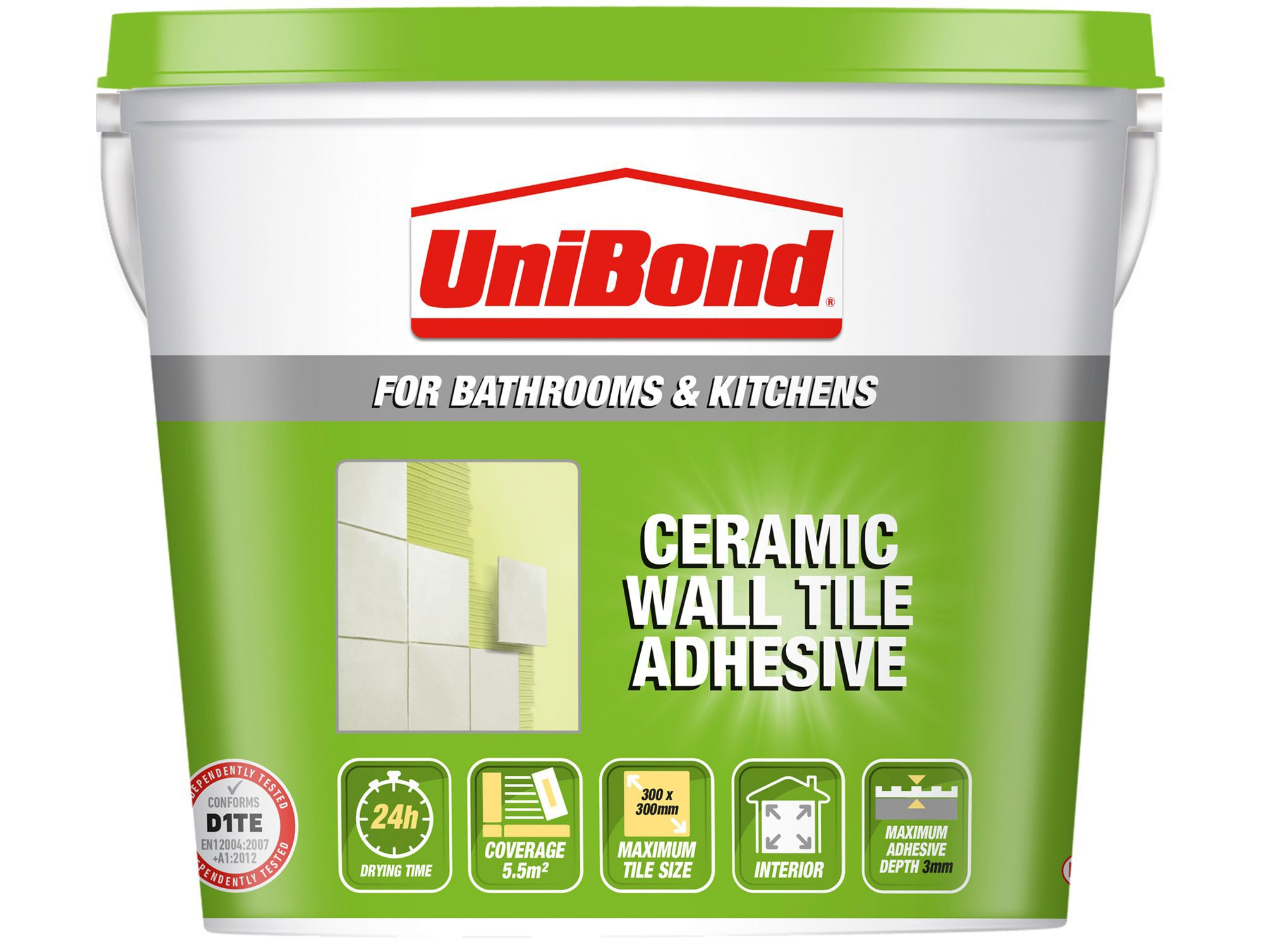 Unibond ready to use wall tile adhesive beige 74kg departments unibond ready to use wall tile adhesive beige 74kg departments diy at bq dailygadgetfo Gallery