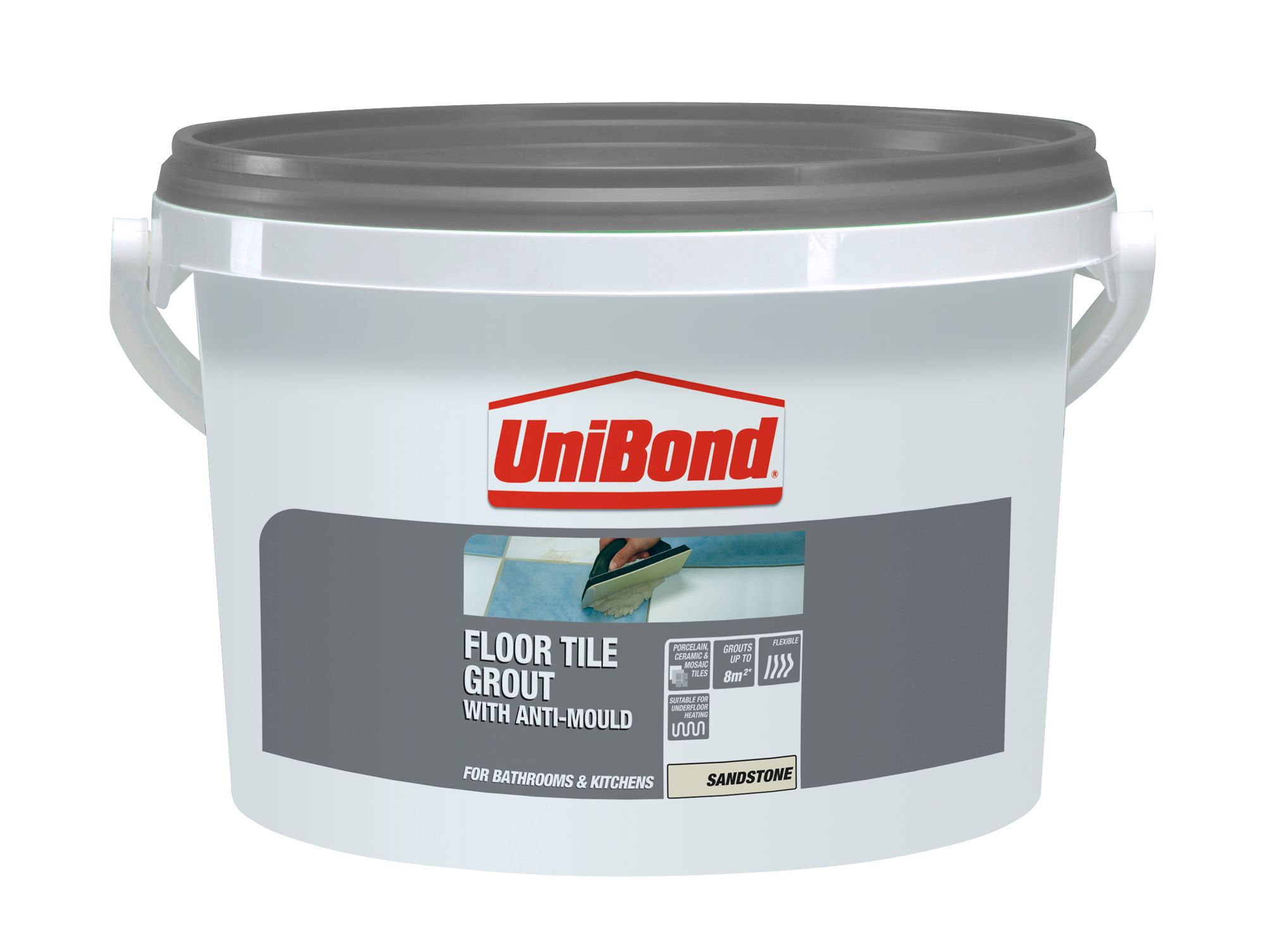 Beige ceramic tile adhesive diy unibond beige ready mixed grout w375kg dailygadgetfo Gallery