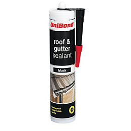 Unibond Black Flexible Roof & Gutter Sealant 300ml