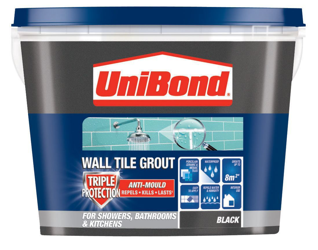 Diy at bq unibond black ready mixed grout w138kg dailygadgetfo Images