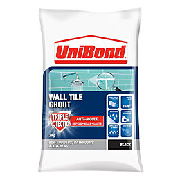 Unibond Black Powder Grout (W)3kg
