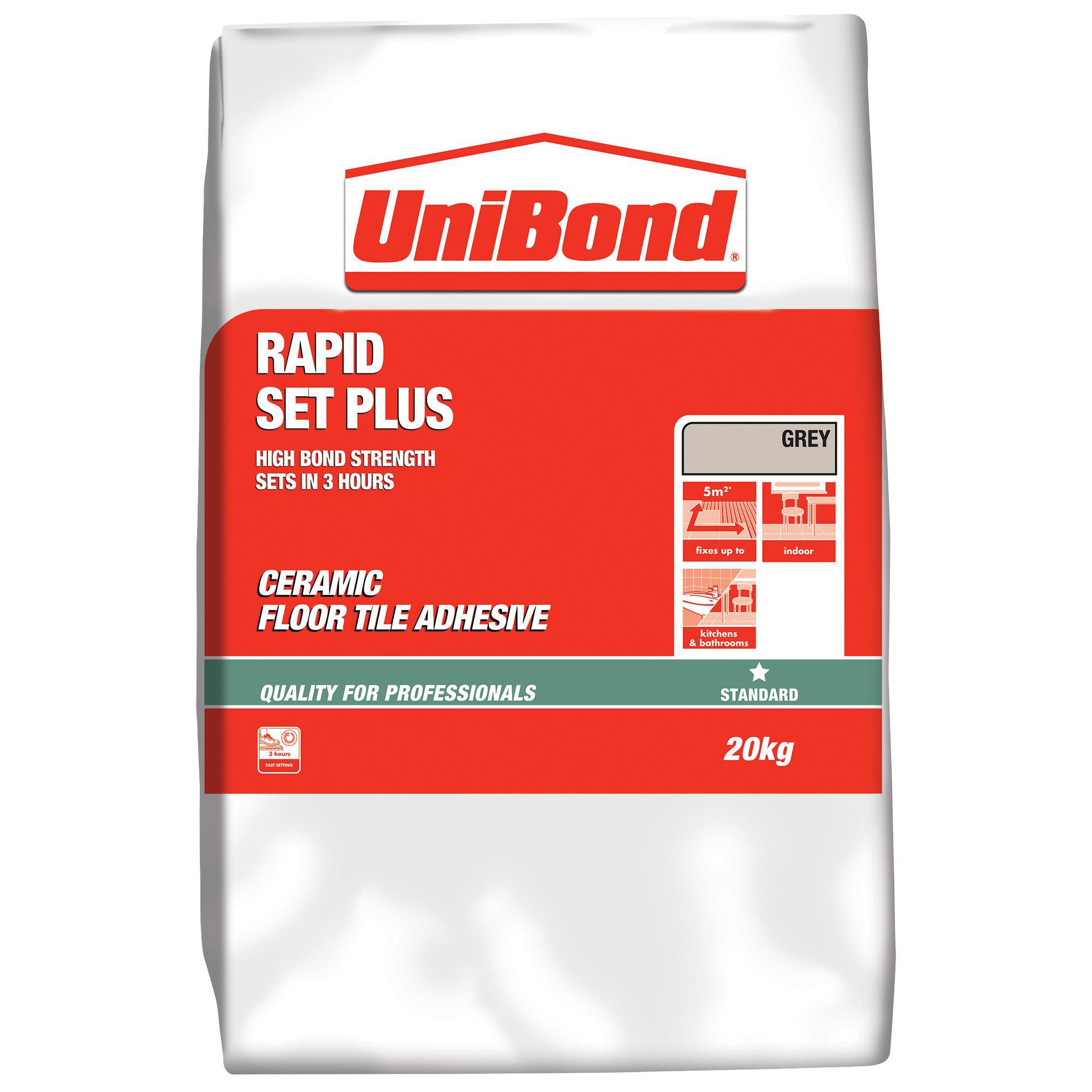 Unibond rapid set plus powder floor tile adhesive grey 20kg unibond rapid set plus powder floor tile adhesive grey 20kg departments diy at bq dailygadgetfo Image collections